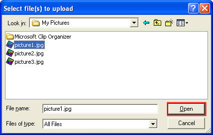 select file and open