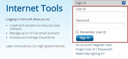 internet tools login