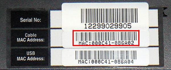 MAC Address Label