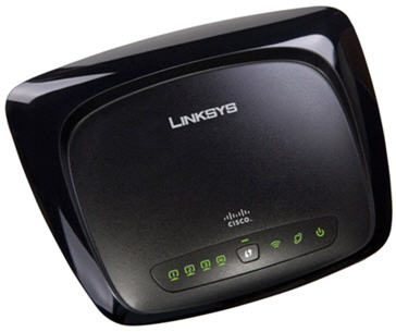 Front view of router