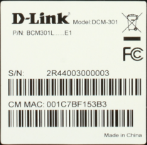 image of MAC address label