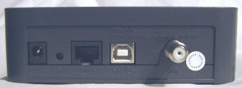 RCA DCM425 back view