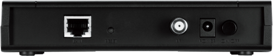 image of back view of modem