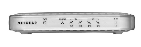 Image of front view of CMD31T modem