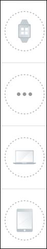 imagen de ejemplo de íconos de equipos en gris