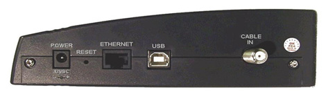Back view of Scientific Atlanta Webstar Dpx-2100 Cable Modem