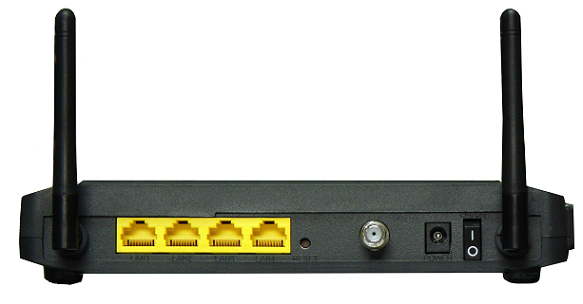 Back View of Zoom 5352 modem