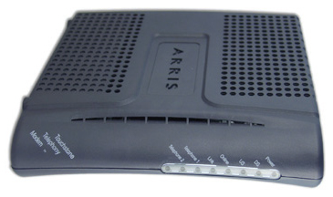 Front View of TM602 modem