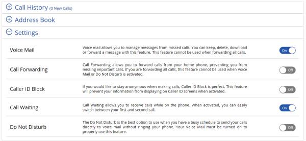 Image of Voice Tools Settings menu