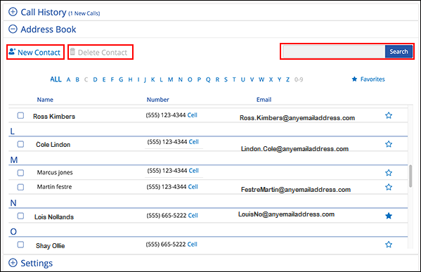 Image of the Phone Tools Address Book