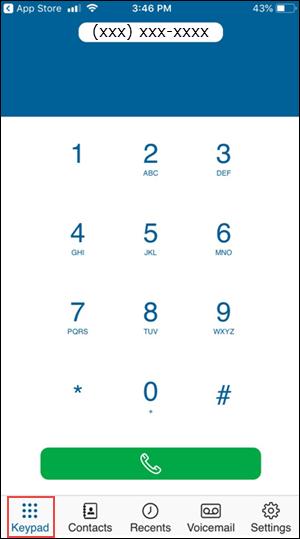 Imagen del teclado de marcado de cox voice everywhere