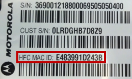MAC Address of SB6182