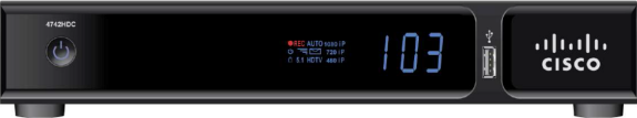 Arris XG1 high definintion DVR receiver front view