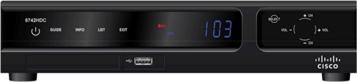 image of Cisco Explorer 8742HDC High Definition DVR Receiver front view