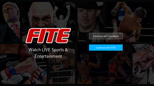 Image of FITE sign in options