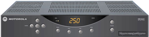image of Motorola DCT2500 Digital Receiver Front View