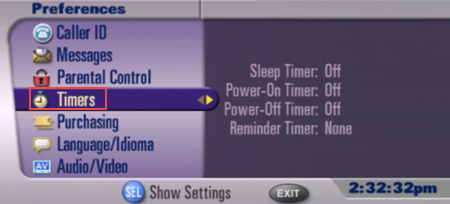 image of receiver timers