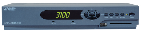 Image of Scientific Atlanta Explorer 3100 Digital Receiver Front View