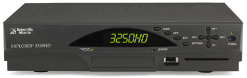 image of Scientific Atlanta Explorer 3250HD High Definition Receiver Front View