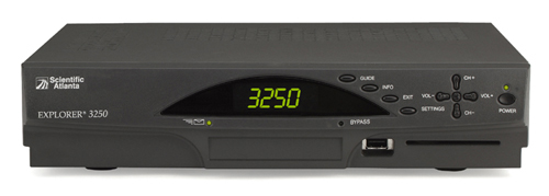 image of Scientific Atlanta Explorer 3250 digital receiver front view