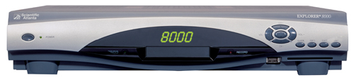 Click for full-size image of the Explorer 8000 DVR receiver.