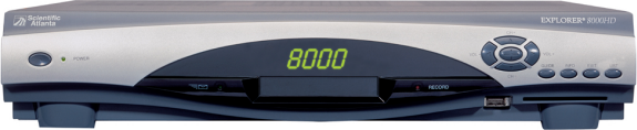 image of Scientific Atlanta 8000HD High Definition Receiver Front View
