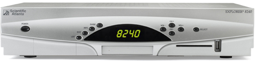 image of Scientific Atlanta Explorer 8240 DVR Receiver Front View