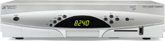 Click for full-size image of the Explorer 8240HD HD / DVR receiver.
