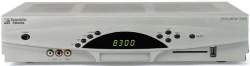 image of Scientific Atlanta Explorer 8300 DVR Receiver Front View