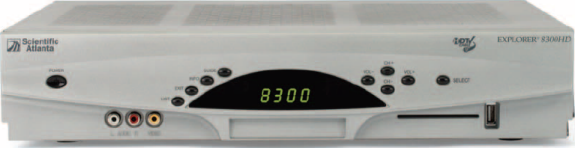 image of Scientific Atlanta Explorer 8300HD High Definition DVR Receiver Front View