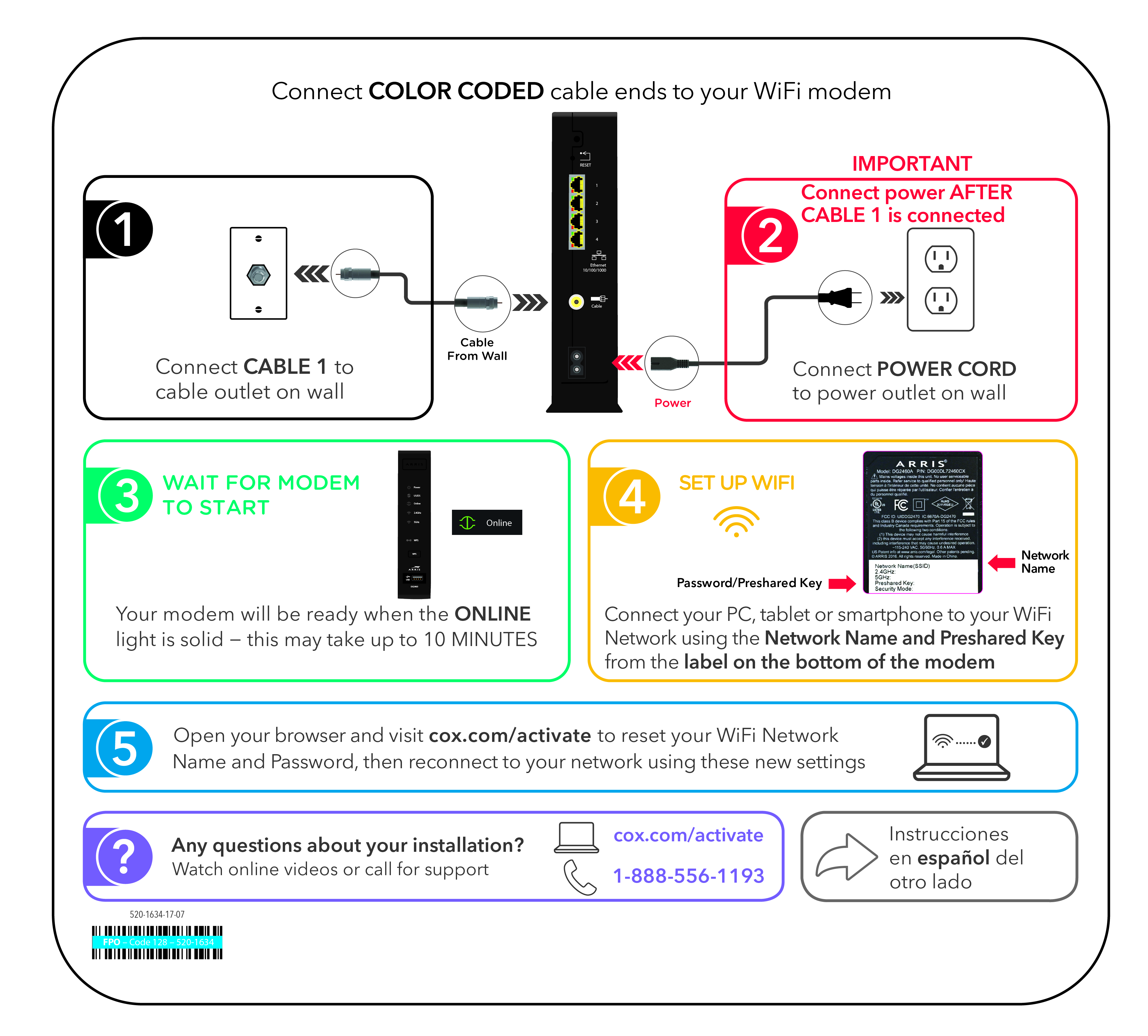 Cox Self Installation Kits And User Guides Wiring Instructions Definition Legacy Equipment Install