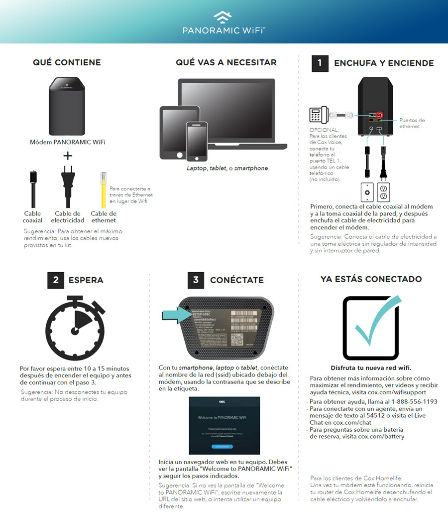 Cox Self-Installation Kits and User Guides