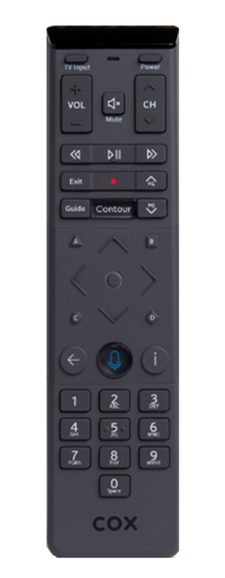 Contour 2 XR15 remote control, click for full-size image.