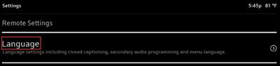 Image of language option