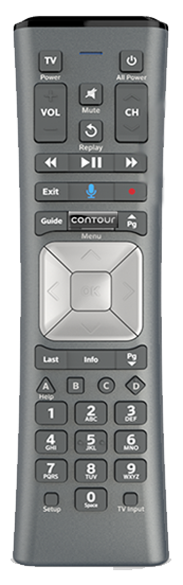Contour 2 XR5 remote control, click for full-size image.