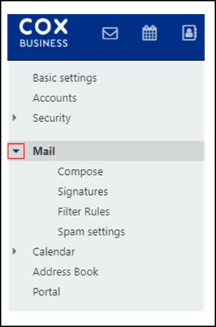 Image of CB Webmail Mail icon
