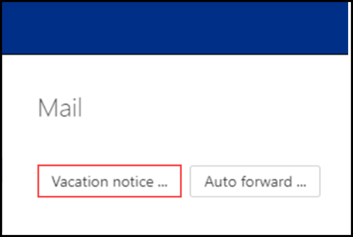 Image of CB Webmail OX Vacation Notice