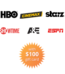 $100 Gift Card burst and Advanced TV Channels