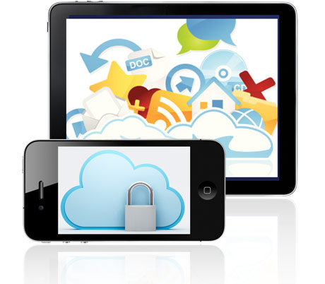 Cloud safely syncing material between smartphone and tablet