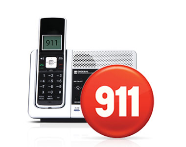home phone with 911 on screen