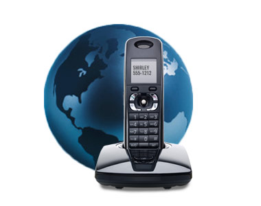 Home phone with globe