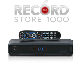 DVR that records 6 shows at one time with remote control